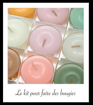 Idée cadeau : kit bougies